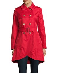 Cece Belted Double Breasted Trenchcoat Red