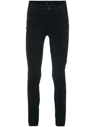 Mother Skinny Trousers Polyester Spandex Elastane Black