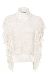 Sea Fringed Sleeveless Top Ivory
