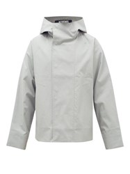 Jacquemus Manosque Bonded Cotton Hooded Jacket Grey
