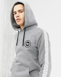 Hype Hoodie In Grey With Side Stripe