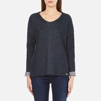 Boss Orange Women's Tareverse Sweatshirt Dark Blue