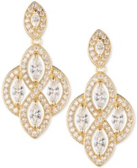 Anne Klein Marquise Crystal Drop Earrings Gold