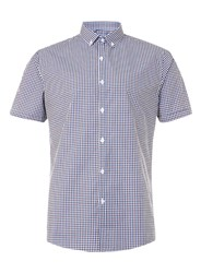 Topman Short Sleeve Gingham Shirt Red