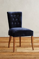 Anthropologie Slub Velvet Abner Dining Chair Sapphire