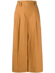 Luisa Cerano Belted Wide Fit Trousers Neutrals