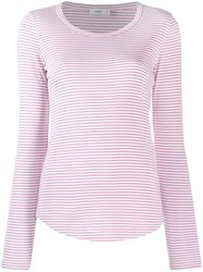 Closed Striped Jersey Top Pink
