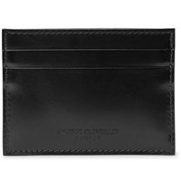 George Cleverley Horween Shell Cordovan Leather Cardholder Black