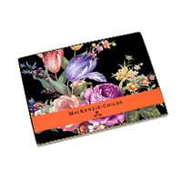 Mackenzie Childs Flower Market Cork Back Placemats Set Of 4 Black