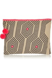 Sophie Anderson Crocheted Cotton Pouch Nude