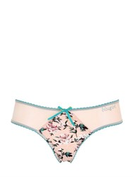 Blugirl Underwear Floral Printed Jersey And Tulle Briefs