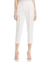 Dylan Gray Pleated Crepe Crop Pants 100 Exclusive Ivory