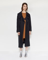 Maison Martin Margiela Pin Striped Wool Coat Pinstriped Navy