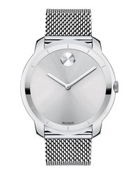 Movado 44Mm Bold Watch With Mesh Bracelet Silver
