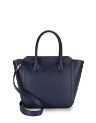 Ivanka Trump Top Handle Leather Tote Eclipse Blue