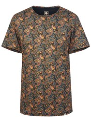 Pretty Green Men's Gretton Paisley T Shirt Multi Coloured Multi Coloured