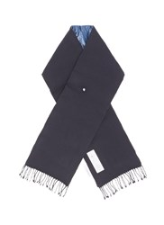 Nanamica Wool Twill Padded Down Scarf Blue