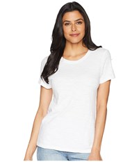 Lilla P Short Sleeve Back Seam Tee White T Shirt
