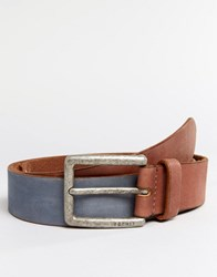 Esprit Belt Nubuck Leather Brown