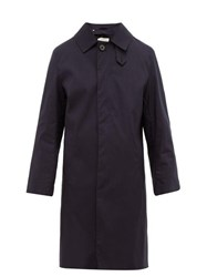 Mackintosh Rubberised Cotton Gabardine Trench Coat Navy