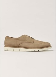 House Of Hounds Brown Taupe Nubuck Leather Derby Shoes