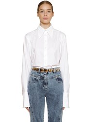 Alberta Ferretti Cotton Poplin Shirt White