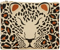 Charlotte Olympia Beige Embroidered Feral Pouch