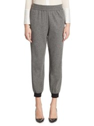 Alice Olivia Pete Herringbone Jogger Pants Black White