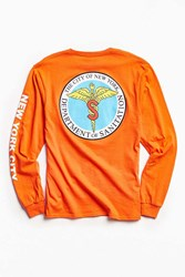 Urban Outfitters Nyc Sanitations Long Sleeve Tee Orange