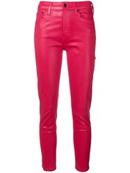 Citizens Of Humanity Mid Rise Skinny Jeans Red