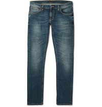 Nudie Jeans Long John Skinny Fit Stretch Denim Indigo
