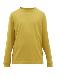 Mhl By Margaret Howell Long Sleeved Cotton Jersey T Shirt Green