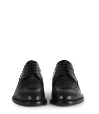 Reiss Ash Leather Brogues In Black