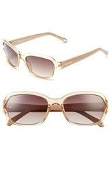 Women's Fossil 55Mm Rectangle Sunglasses Nude Crystal