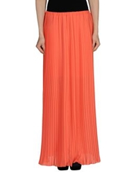 Patrizia Pepe Long Skirts Coral