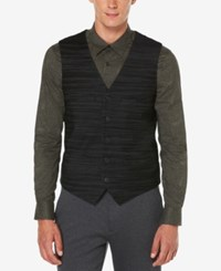 Perry Ellis Men's Big And Tall Travel Luxe Performance Striped Vest Gray