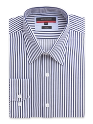 Pierre Cardin Bengal Stripe Classic Fit Long Sleeve Shirt Navy