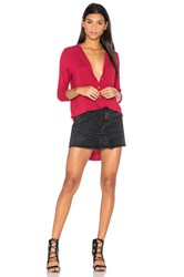 Michael Stars Tunic Henley Red