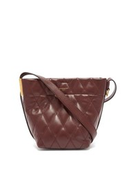 Givenchy Gv Mini Quilted Leather Bucket Bag Burgundy