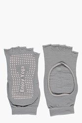 Boohoo Fit Anti Slip Yoga Socks Grey