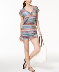 Anne Cole Striped Mesh Tunic Cover Up Women's Swimsuit Multi