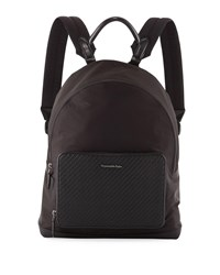 Ermenegildo Zegna Nylon Backpack Black