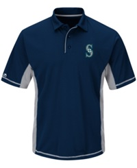 Majestic Men's Seattle Mariners Top Of The Inning Polo Navy