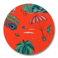 Emma J Shipley 'Lost World' Coasters Set Of 4 Red