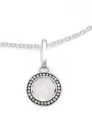 Ippolita Ippolitini Clear Quartz Diamonds And Sterling Silver Lollipop Charm Pendant