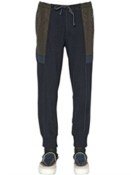Kolor Wool Cashmere Knit And Nylon Jogging Pants