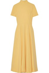 Emilia Wickstead Miranda Stretch Wool Crepe Dress Marigold