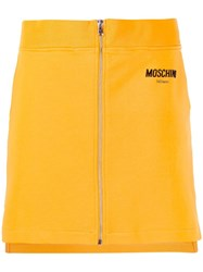 Moschino Zip Front Mini Skirt Yellow