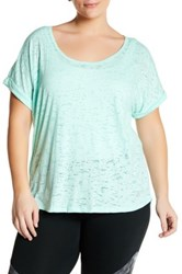 The Balance Collection Kimmy Burnout Tee Plus Size Green