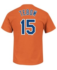 Majestic Men's Tim Tebow New York Mets Official Player T Shirt Orange